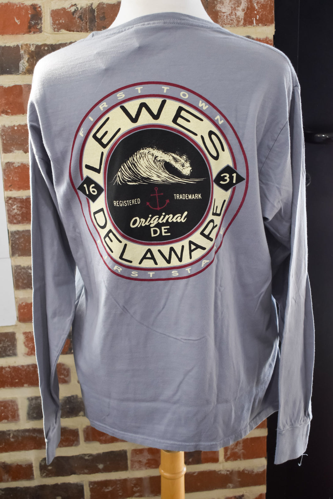 COMBATIVE WAVE/ANCHOR LONG SLEEVE TEE