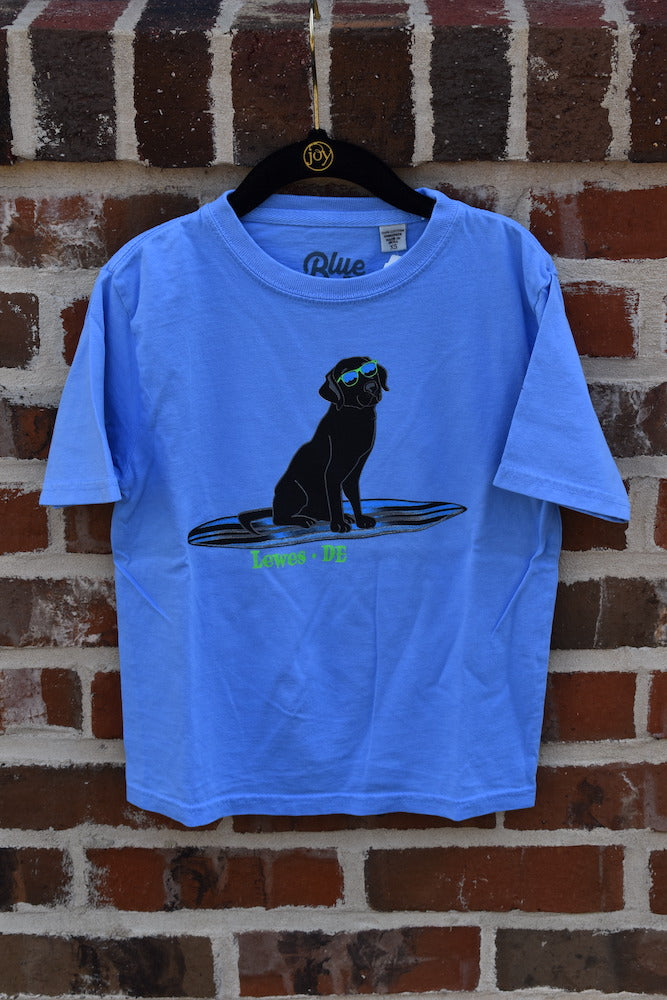 KIDS BLACK LAB PADDLE BOARD TEE