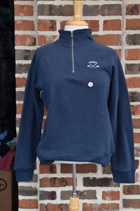 DYNAMITE CROSSED OARS 1/4 ZIP SWEATSHIRT