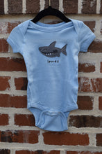 Load image into Gallery viewer, INFANT STICKY SHARK ONESIE