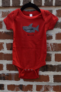 INFANT STICKY SHARK ONESIE