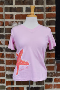 CORAL STARFISH LADIES TEE