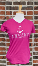 Load image into Gallery viewer, LADIES TAG LINE ANCHOR TEE
