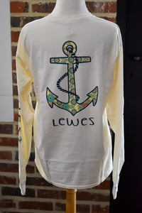 FLORAL ANCHOR LONG SLEEVE TEE