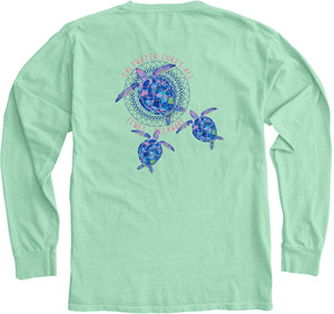 SALTWATER CURES SEA TURTLES LONG SLEEVE TEE