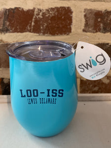LOO-ISS DELAWARE WINE GLASS