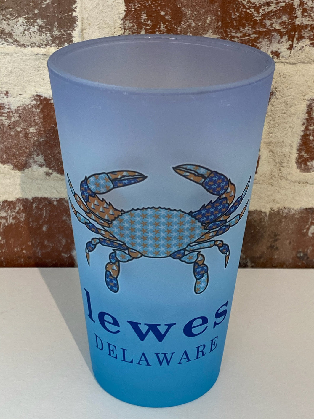 BLUE CRAB LEWES PINT GLASS