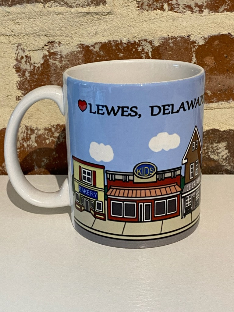 DOWNTOWN LEWES CERAMIC MUG