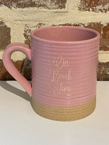 BEACH TIME STONEWARE MUG