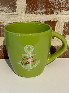 LIME GREEN LEWES ANCHOR MUG