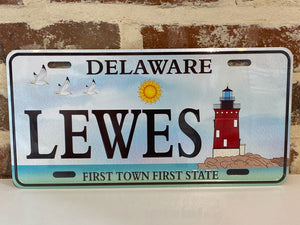 LEWES LIGHTHOUSE LICENSE PLATE