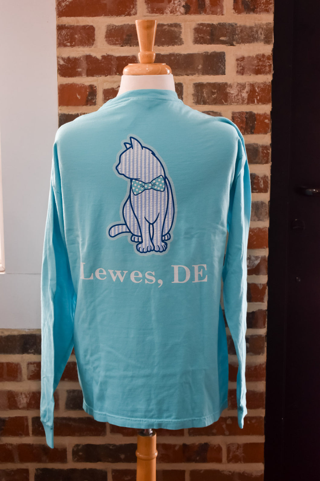 SEERSUCKER CAT LONG SLEEVE
