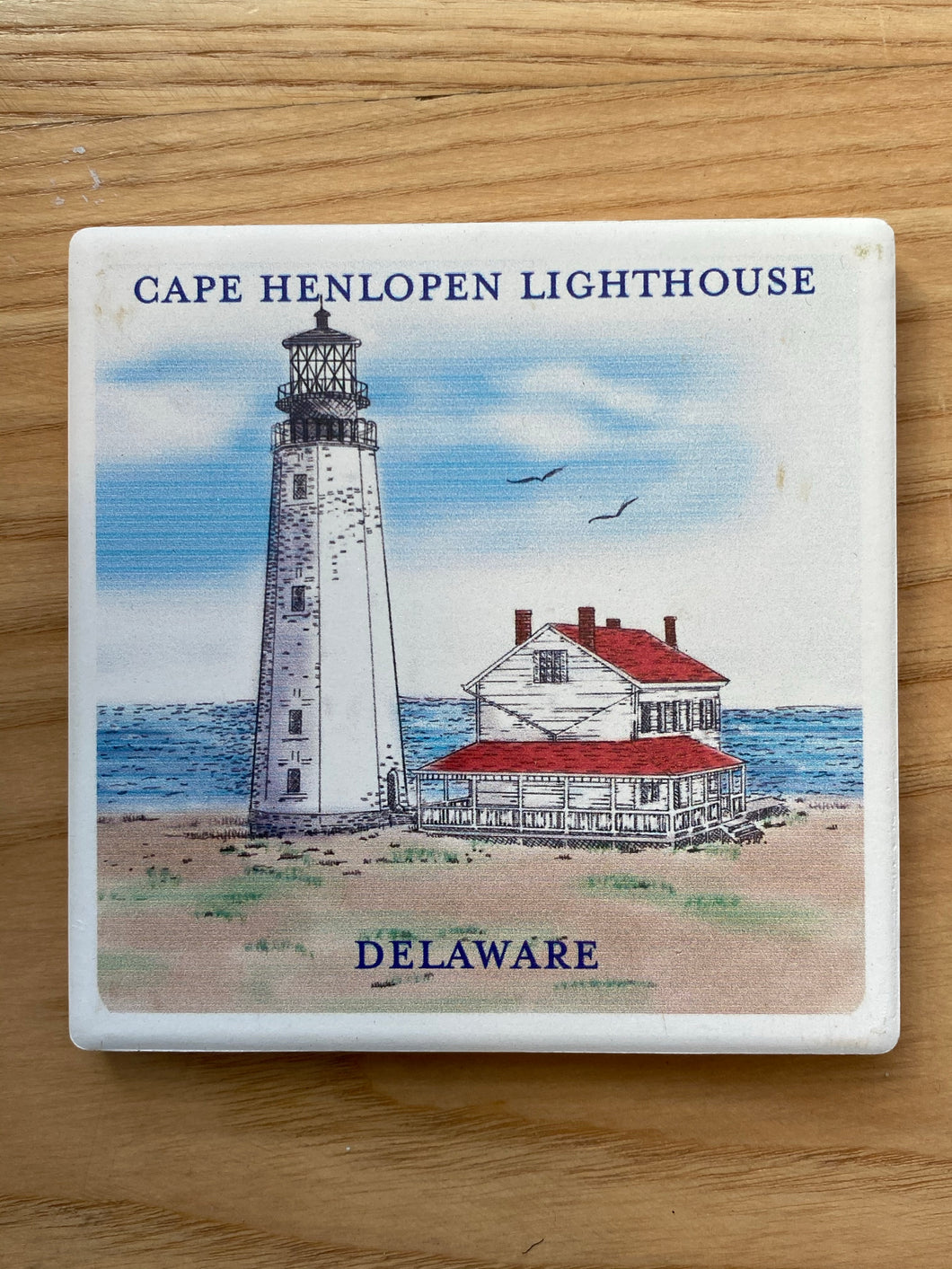 STONE COASTER CAPE HENLOPEN LIGHTHOUSE