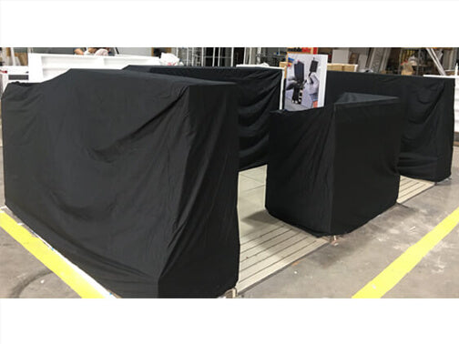 Kiosk Night Cover Anti-theft with fire rated fabric