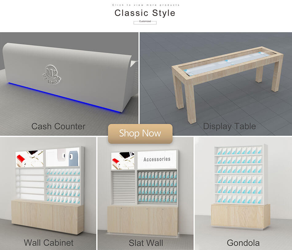 Modern mobile phone shop classic style display cabinet recommended
