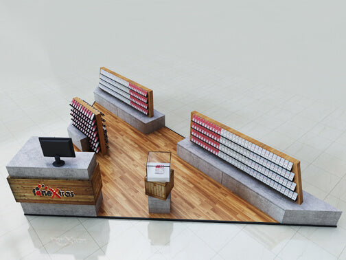 Solid Wood CellPhone Accessoreis Pop up Mall Display