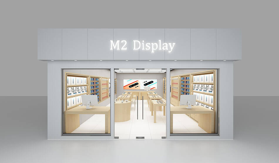 Apple style mobile phone store design