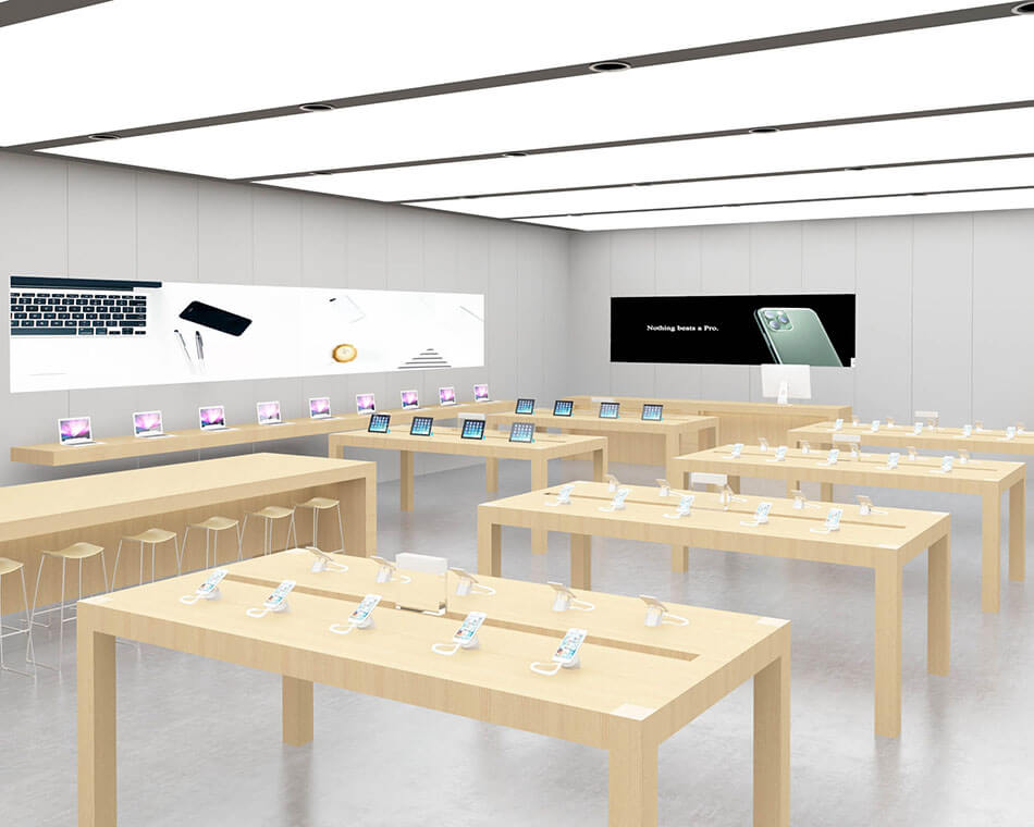 Experience table in Apple Experience Store