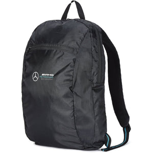 Mercedes Benz AMG Petronas F1 Packable Backpack Black - MBM Accessories Boutique