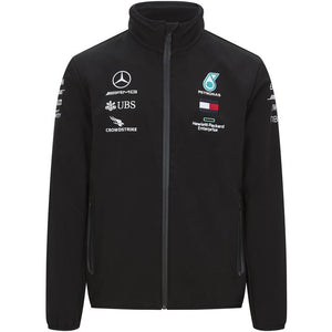 MERCEDES BENZ AMG PETRONAS F1 2020 TEAM SOFTSHELL JACKET - MBM Accessories Boutique