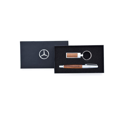 Wood Pen And Key Ring Set - MBM Accessories Boutique