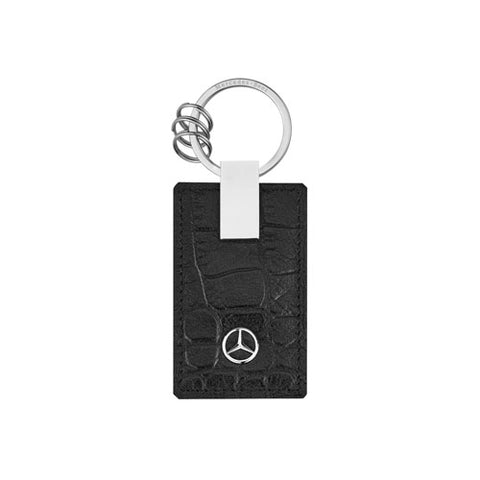 Crocodile Embossed Leather Key Ring - MBM Accessories Boutique