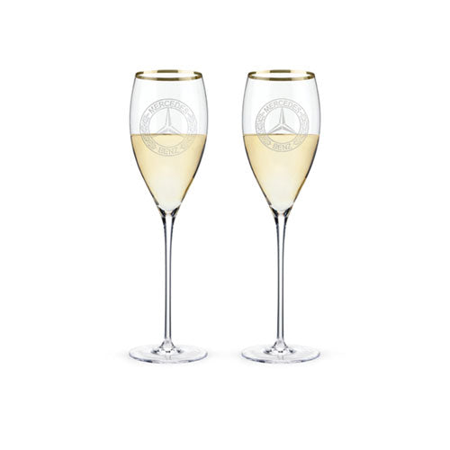 Classic Stemmed White Wine Glasses, Set Of 2