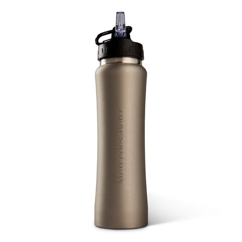 26oz Stainless Sport Bottle with Straw Silver - MBM Accessories Boutique