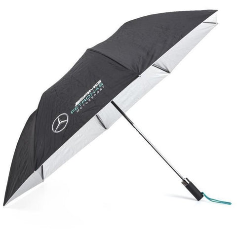 Mercedes Benz Petronas AMG Formula 1 Black Compact Umbrella - MBM Accessories Boutique