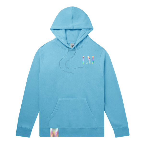 Low Maintenance Hoodie Sky Front. Unisex men's woman's sweatshirt.