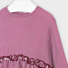 Load image into Gallery viewer, Layered Ruffle Stripe Blouse