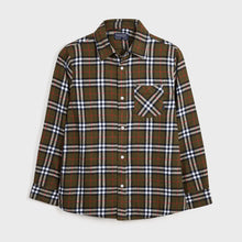 Load image into Gallery viewer, Flannel Plaid Button-Up Shirt