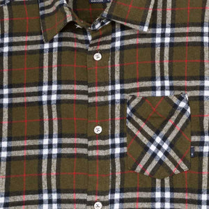 Flannel Plaid Button-Up Shirt