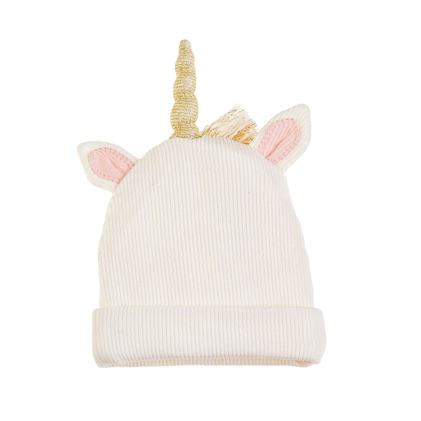Ivory Lurex Unicorn Cap