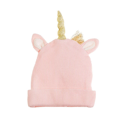 Pink Lurex Unicorn Cap