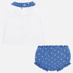 Applique Tee & Bloomer Set