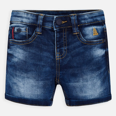 Dark Knit Denim Bermuda Short