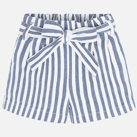 Striped Tie Waist Short