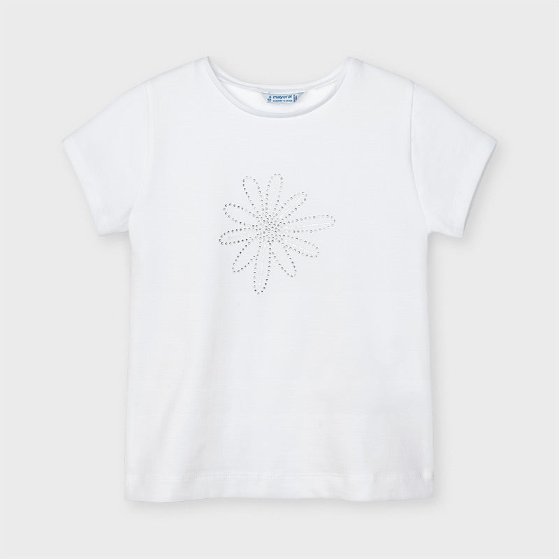 Short Sleeve Flower Sequin Tee