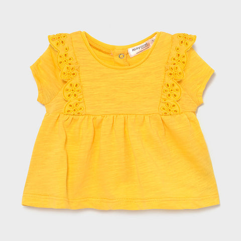 Yellow Lace Trim Baby Tee
