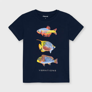 Short Sleeve Fish Graphic Tee