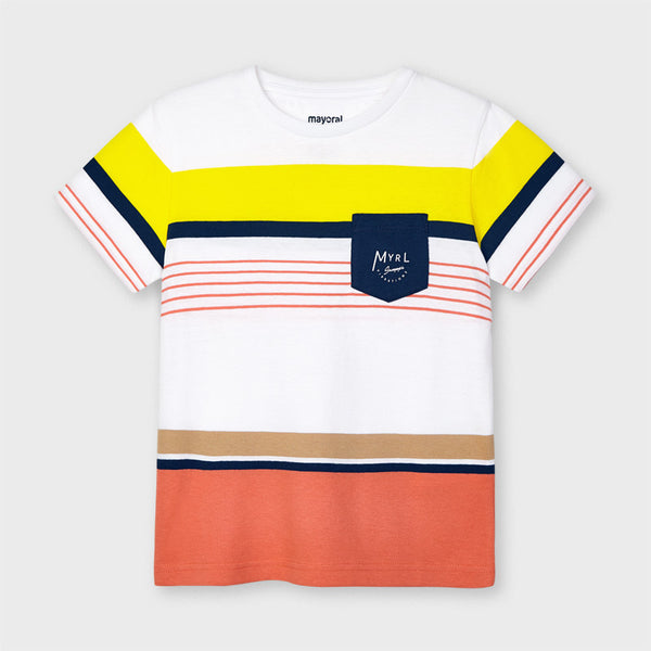 Short Sleeve Striped Pocket Tee