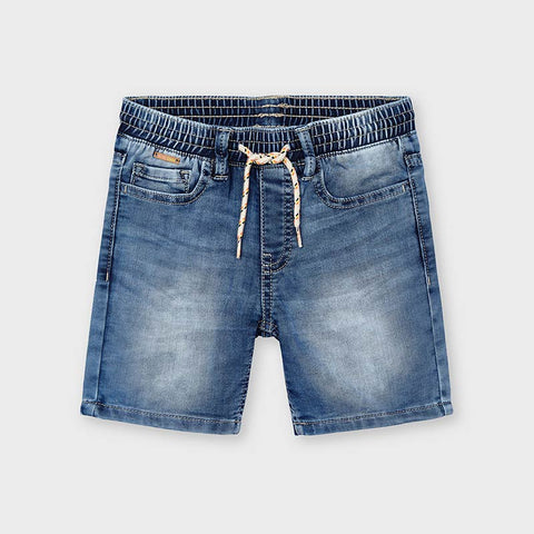 Soft Knit Denim Bermuda Short