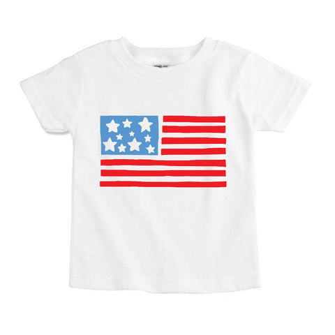 USA Flag 4th of July Tee