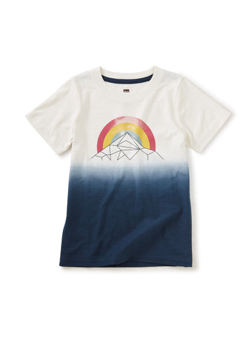 Mountain Rainbow Dip-Dye Tee