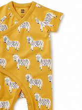 Load image into Gallery viewer, Zebra Wrap Romper
