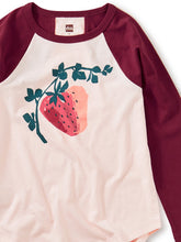 Load image into Gallery viewer, Juicy Strawberry Raglan Graphic Tee
