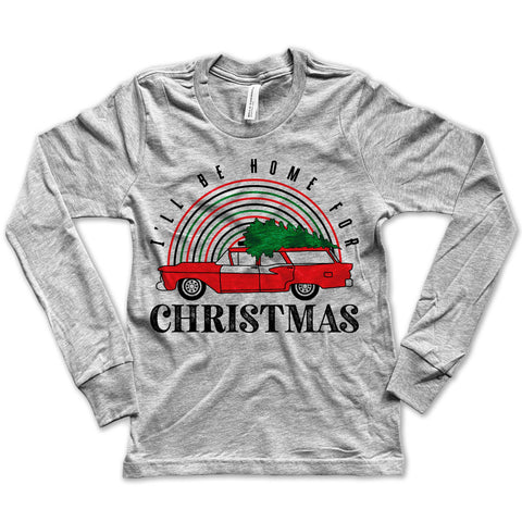 I'll Be Home For Christmas Long Sleeve Tee