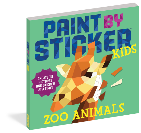 Paint by Sticker Kids! - Zoo Animals