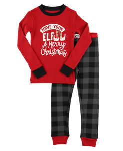 Elf Plaid Pajama Set